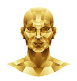 Iron man head. On a white background Royalty Free Stock Photo