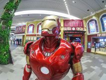 Iron man life size model, a fictional superhero appearing in American comic books published by Marvel Comics at a cinema zone. BANGKOK, THAILAND. – On stock photography