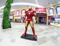 Iron man life size model, a fictional superhero appearing in American comic books published by Marvel Comics at a cinema zone. BANGKOK, THAILAND. – On royalty free stock photos