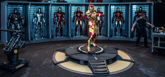 Iron Man Mark 42 model room on display Royalty Free Stock Photos