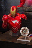 Iron Man Mark VI head chest model on display Royalty Free Stock Image