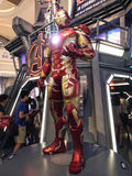 Iron Man MK 43 in The Avengers: Age of Ultron. 1:1 scale Iron Man display in Hong Kong in 2015 Stock Images