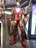 Iron Man MK 43 in The Avengers: Age of Ultron. 1:1 scale Iron Man display in Hong Kong in 2015 Stock Photo