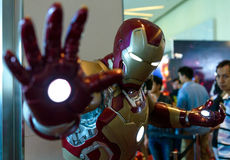 Iron Man model in Thailand Comic Con 2014. Stock Photos