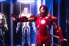 Iron Man, wax sculpture, Madame Tussaud stock image