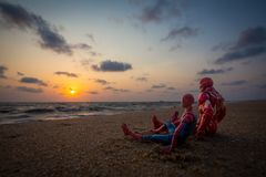 Iron Man and Spider-man royalty free stock images