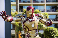Iron Man. Statue of Iron Man in Cannes,France Stock Images