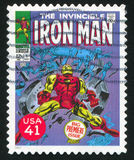 Iron Man. UNITED STATES - CIRCA 2007: stamp printed by United states, shows Iron Man, circa 2007 royalty free stock photos