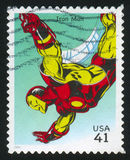 Iron Man. UNITED STATES - CIRCA 2007: stamp printed by United states, shows Iron Man, circa 2007 stock images