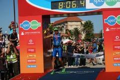Iron man winner. The winner of iron man south africa 2011, Raynard Tissink Royalty Free Stock Photos