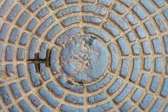 Iron manhole Stock Image