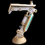 Iron mechanical number. Iron mechanical number on the black background royalty free illustration
