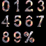 Iron mechanical numbers from zero to ten Stock Photography
