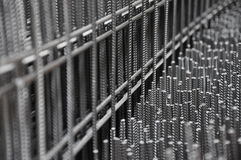 Iron Mesh. Materials for construction, steel mech, wire rod Royalty Free Stock Photo