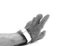 Iron mesh glove. Royalty Free Stock Images