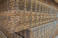 Iron mesh for reinforced concrete Stock Photo