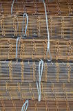 Iron mesh for reinforced concrete Royalty Free Stock Images