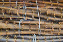 Iron mesh for reinforced concrete Royalty Free Stock Photo