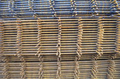 Iron mesh for reinforced concrete Stock Photography