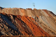 Iron mine. Mine located at Minas Gerais Estate. Brazil Royalty Free Stock Image