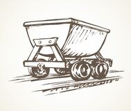 Free Iron Miner`s Trolley. Vector Drawing Royalty Free Stock Images - 177038889