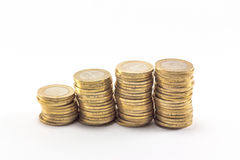 Iron money. Turkish Lira. $ 1 Stock Image