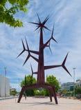 Iron sculpture named 'Sun-man' in Lisbon Stock Photography