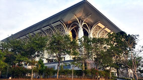 Iron Mosque, Mizan Zainal Abidin Mosque Royalty Free Stock Photography