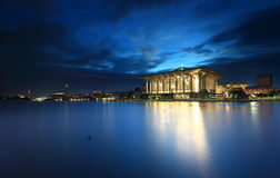 Iron mosque Putrajaya at blue hour Stock Photo