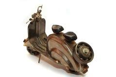 Iron motorbike. Iron grunge retro motorbike toy Stock Image