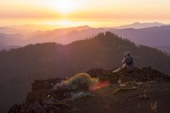 Iron Mountain Hike in Oregon stock photos