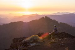 Iron Mountain Hike in Oregon Royalty Free Stock Photography
