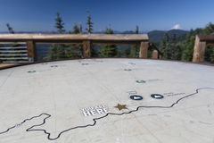 Iron Mountain Lookout Map stock images