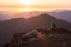 Iron Mountain-Stijging in Oregon Stock Foto's