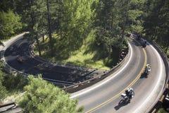 Iron Mountain-Straße, schwarzer Hügel Stockbild