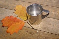 Iron mug. Royalty Free Stock Photo