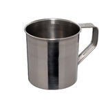 Iron mug. On white background Royalty Free Stock Image