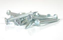 Iron nails 2. Iron nails on white Royalty Free Stock Image