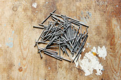 Iron nails Royalty Free Stock Image