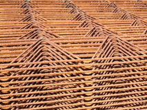 Iron net. Used to make reinforced conrete, Italy Stock Image