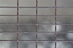 Iron net background. Close up of iron net Royalty Free Stock Photo