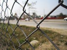 Iron net fence Royalty Free Stock Photo