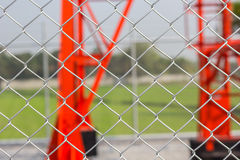 Iron net. Use for protect communication towers Royalty Free Stock Photo