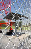 Iron net. Use for protect communication towers Stock Photos