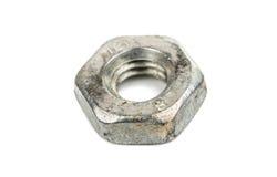 Iron nut macro Stock Image