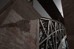 Iron old bridge Stock Image