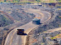 Iron ore carrying Royalty Free Stock Images