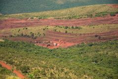 Iron ore. Corumbá, Brazil, August 7, 2006 Royalty Free Stock Photography