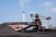 Iron ore crusher. Machine for steel making Royalty Free Stock Images