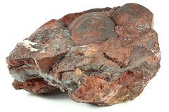 Iron ore. From the Czech Ore Mountains isolated on white background Royalty Free Stock Photos